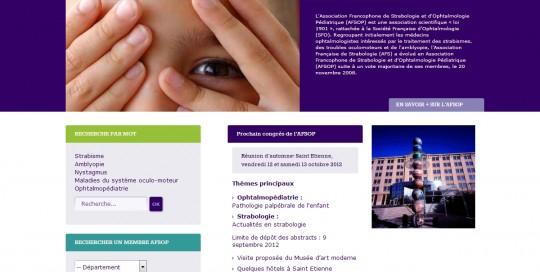 Page d'accueil de l'AFSOP