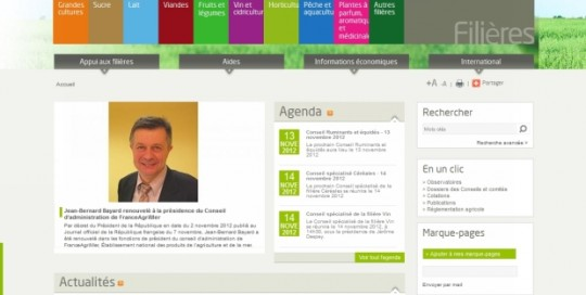 Site Internet de France Agrimer